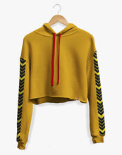 Load image into Gallery viewer, Cropped Arrowhead Hoodie (Mustard)