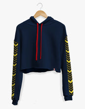 Load image into Gallery viewer, Cropped Arrowhead Hoodie (Navy)