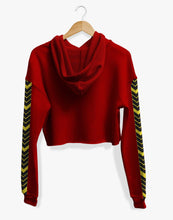 Load image into Gallery viewer, Cropped Arrowhead Hoodie (Red)
