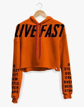 Load image into Gallery viewer, LIVE FAST CROP HOODIE