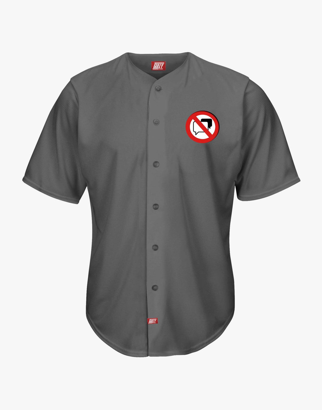 No Speaking Baseball Shirt (Grey)