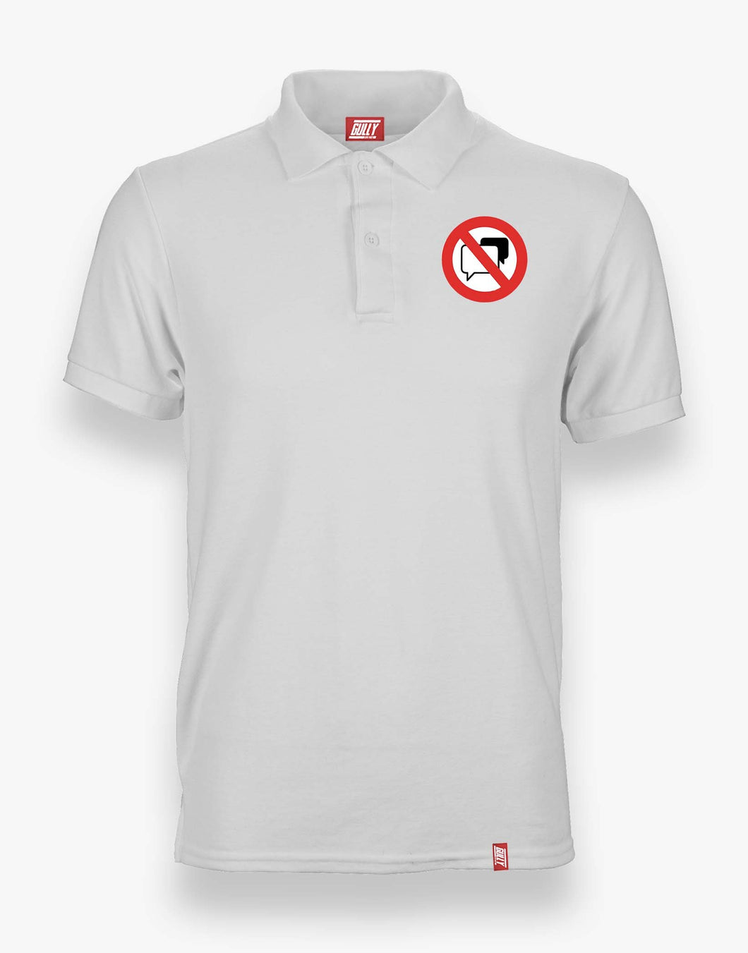 No Speaking Polo (White)