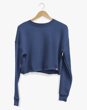Load image into Gallery viewer, Gals Crop Sweatshirt (Blue)