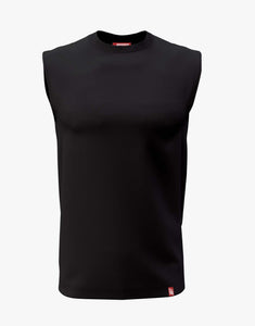 Basic Sleeveless Tee (Black)
