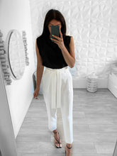 Load image into Gallery viewer, Pantalon extra taille haute blanche