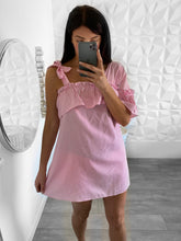 Load image into Gallery viewer, robe chemise rayee rose