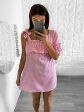 Charger l'image dans la galerie, robe chemise rayee rose