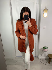 Gilet poum long rouille