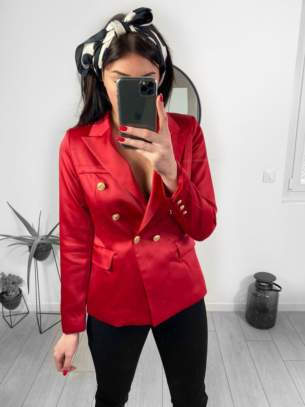 blazer amour rouge