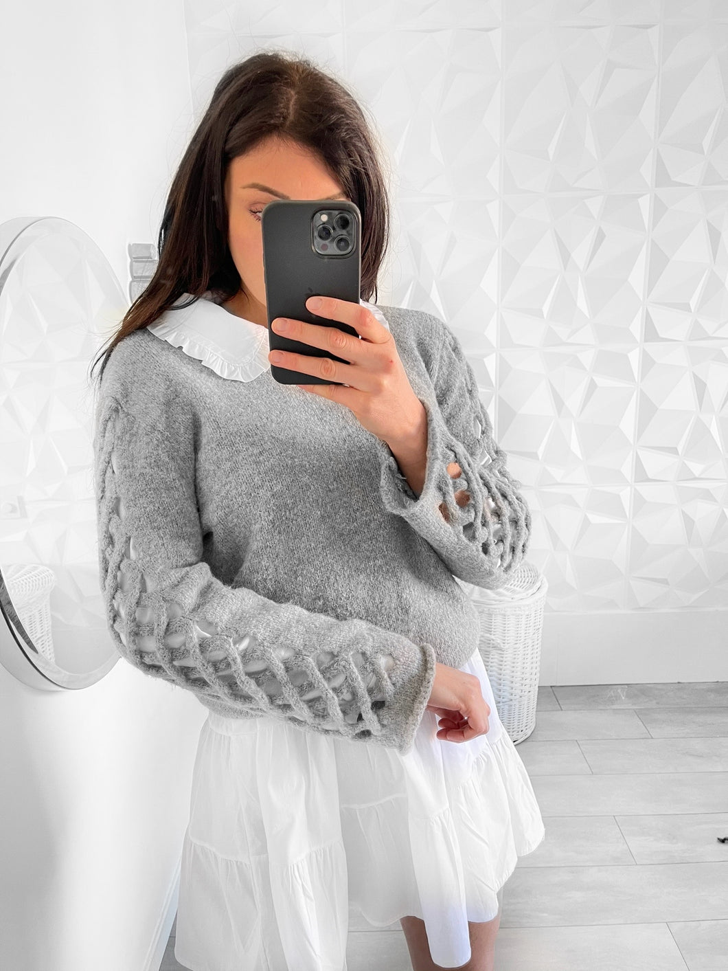 pull adeline gris