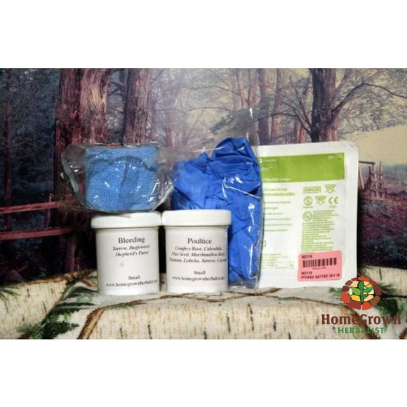 Ammo Can First Aid Kit Small - 12 (1 Oz) Tinctures Powders First Aid Supplies - Herb Kits Homegrown Herbalist