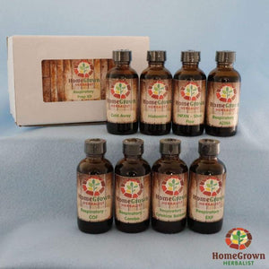 Respiratory Preparedness Kit - 4oz Bottles - Herb Kits HomeGrown Herbalist herb kit resp