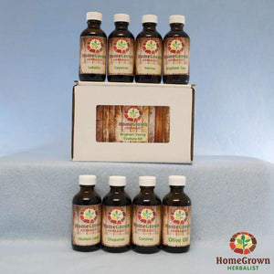 The Brigham Young Tincture Kit - Herb Kits HomeGrown Herbalist 8 TIncture Kit