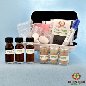 The Cut Bite & Sting Kit - Herb Kits HomeGrown Herbalist Emergency & First Aid Formulas Travel Kit wound kit