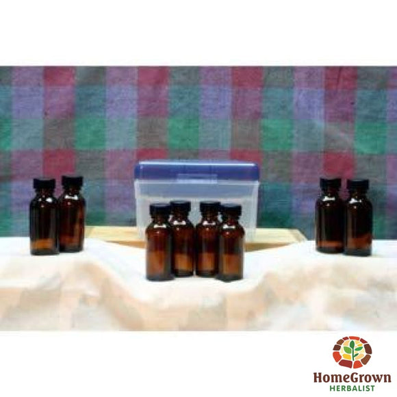 Tincture Kit - Travel & First Aid 8 1 oz bottles - Herb Kits HomeGrown Herbalist 8 TIncture Kit Travel Kit