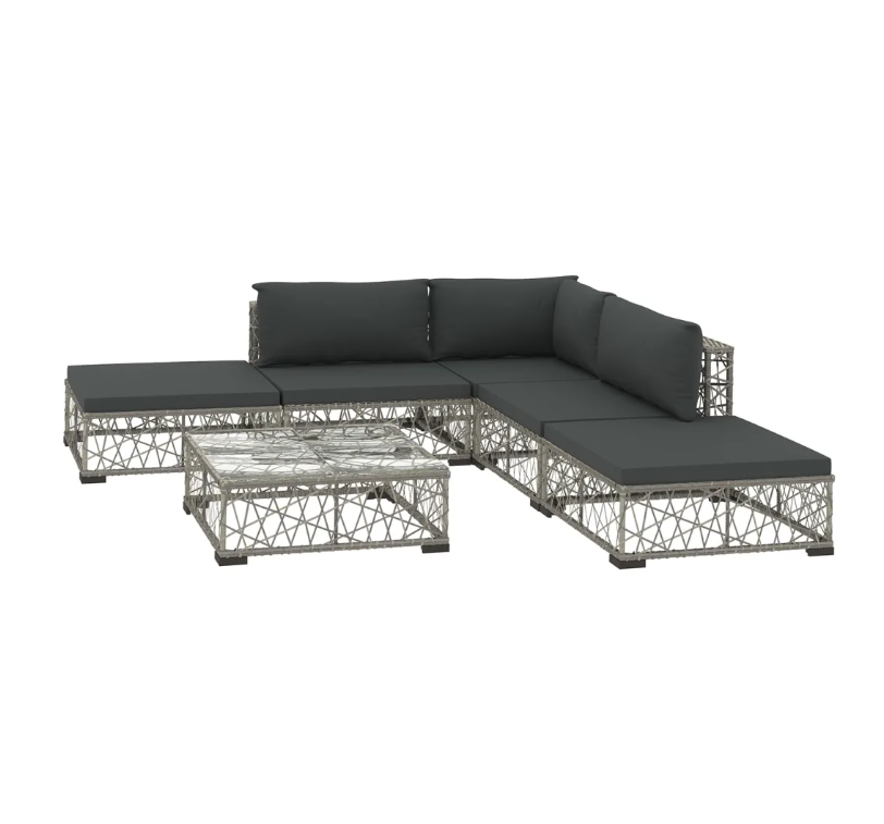 LuxerLiving™ Outdoor Lounge Patio Furniture Set Modern Rattan Sofa With Table