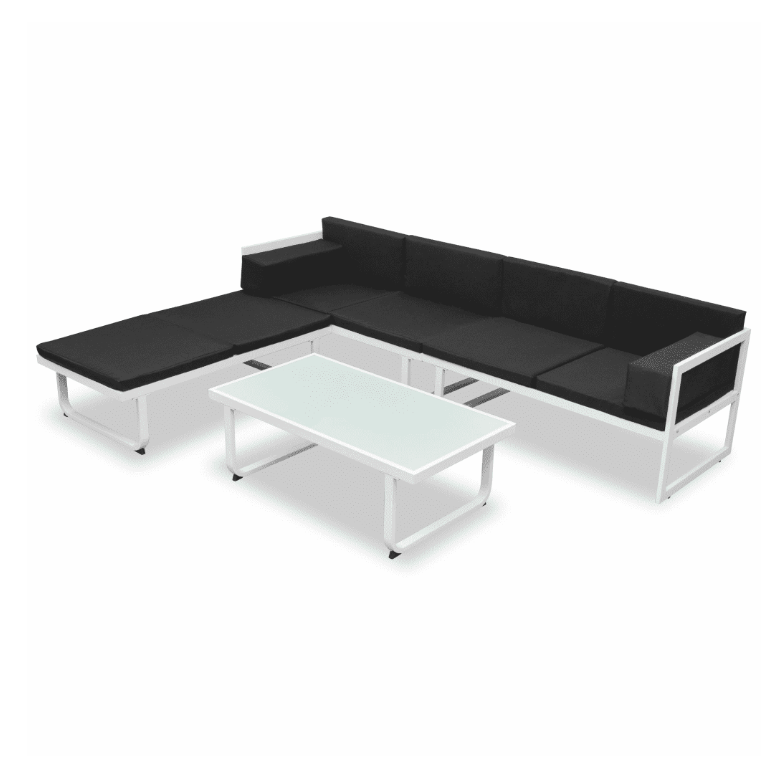 LuxerLiving™ Outdoor Patio Furniture Lounge Set Modern Sofa Table Aluminium