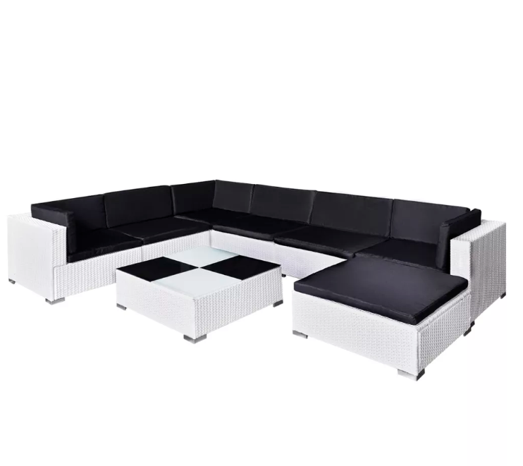 LuxerLiving™ Outdoor Patio Furniture Set Modern Lounge Rattan Sofa Table