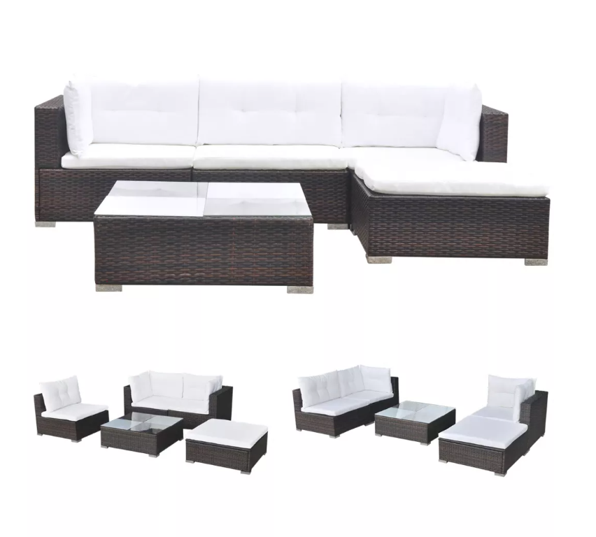 LuxerLiving™ Outdoor Rattan Garden Patio Furniture Sofa Set