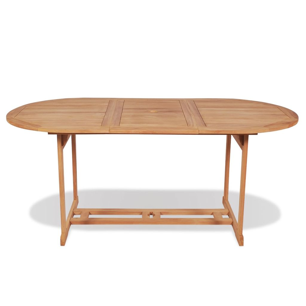 LuxerLiving™ Outdoor Dining Table Wood 71x35x30 in. Teak