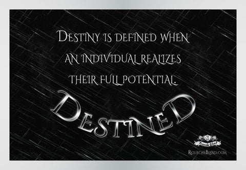 Destiny is defined when an individual realizes their full potential. — Destined