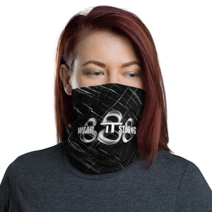 Wear it Strong 888 Chrome and Black Bandanna Neck Gaiter