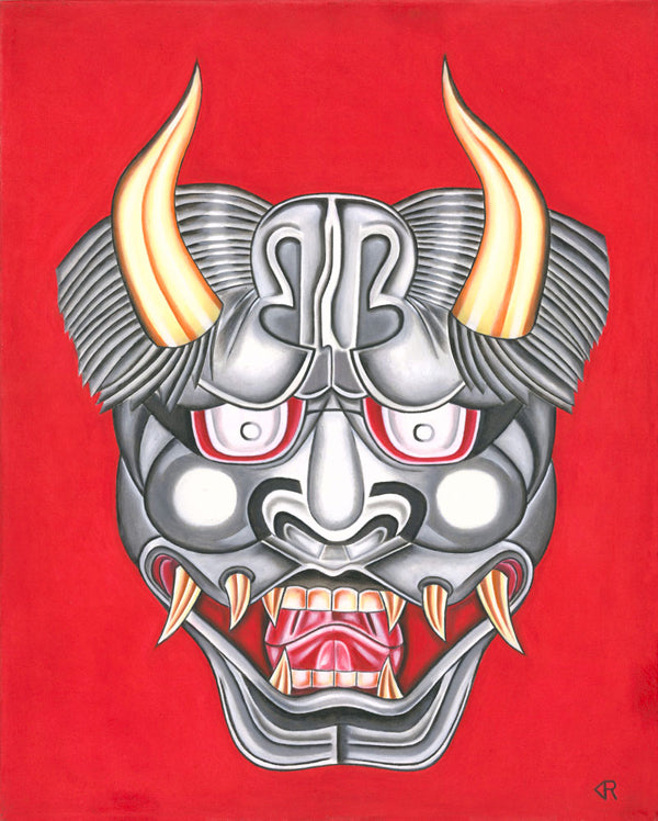 Fearsome - Japanese Oni Mask Art Print