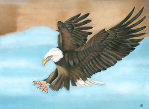 Freedom Eagle in Flight Art Print