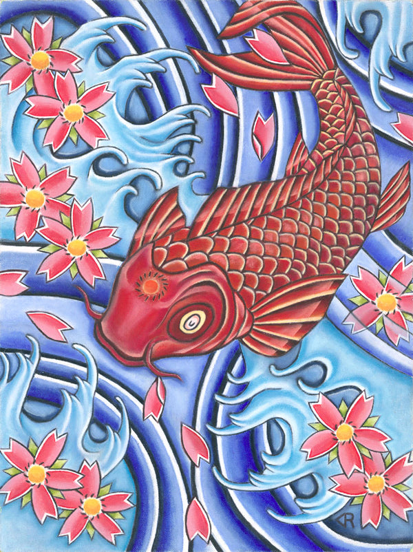 Harmony Koi Fish Canvas Art Print