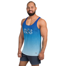 Load image into Gallery viewer, Faded Blue Wear it Strong 888 Mens Tank Top