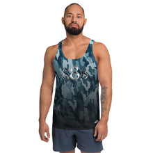 Load image into Gallery viewer, Blue Camo Wear it Strong Mens 888 Tank Top