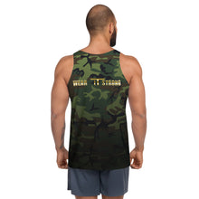 Load image into Gallery viewer, Green Camo Wear it Strong Mens 888 Tank Top
