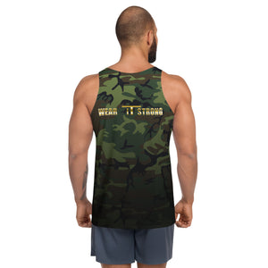 Green Camo Wear it Strong Mens 888 Tank Top