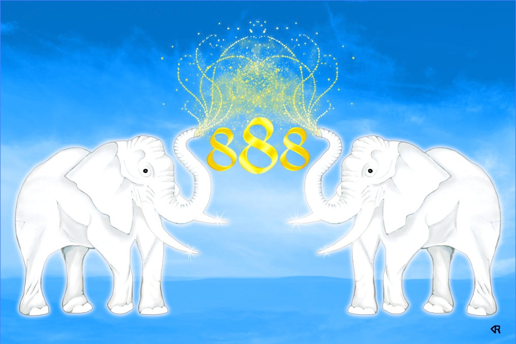 Unity Royal Lucky Elephants Canvas Art Print