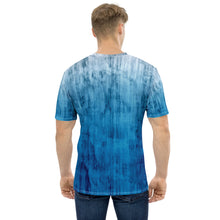 Load image into Gallery viewer, Dragon and Koi Faded Blue Men's T-shirt