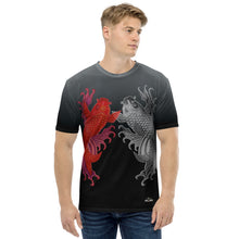 Load image into Gallery viewer, Dual Koi - Red and Chrome Men's T-shirt