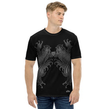 Load image into Gallery viewer, Dual Koi Silver and Black Shadow Men's T-shirt