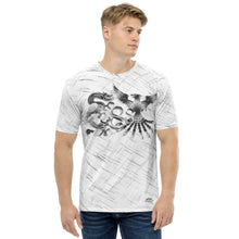 Load image into Gallery viewer, Dragon and Phoenix Infinity Chrome White Patterned Men's T-shirt