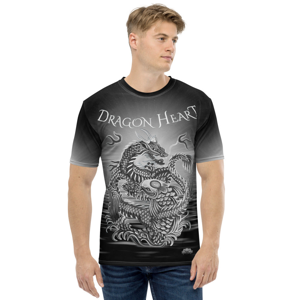Dragon Heart Fire and Water Men's T-shirt