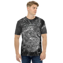 Load image into Gallery viewer, Prestige Fire & Water Dragon & Koi Lightning Men's T-shirt