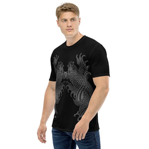 Dual Koi Silver and Black Shadow Men's T-shirt