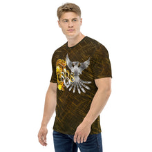 Load image into Gallery viewer, Dragon and Phoenix Infinity Silver Gold Patterned Men's T-shirt