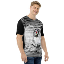 Load image into Gallery viewer, Tranquility Crane 8 Water Asian Bird Black and White Men's T-shirt