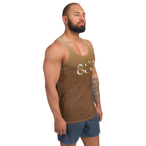 Faded Brown Wear it Strong Mens 888 Tank Top