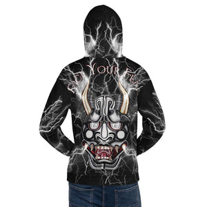 Face Your Fears Oni Mask 888 Lightning Hoodie