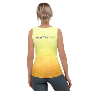Gold Fade Ladies Wear it Strong 888 Tank Top