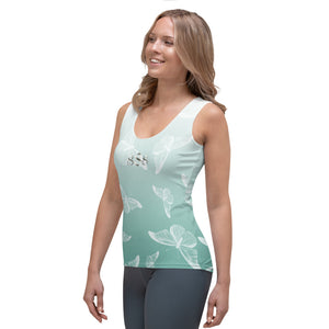 Sea Green Butterfly Ladies Wear it Strong 888 Tank Top