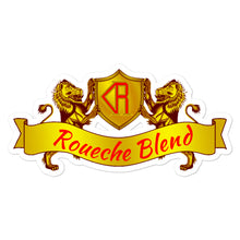 Load image into Gallery viewer, Roueche Blend Logo Gold and Red Stickers
