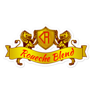 Roueche Blend Logo Gold and Red Stickers