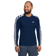 Load image into Gallery viewer, Wear it Strong Infinity 888 White & Navy Blue Men's Rash Guard